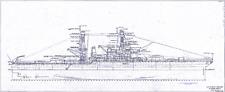 USS West Virginia BATTLESHIP NAVY BLUEPRINT PLANS RARE