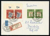 Bund waag. Paare MiNr. 171-72 R-Brief gelaufen, Sonderstempel (O861