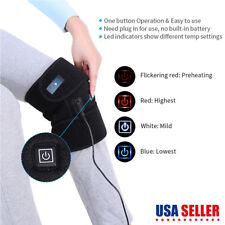Gift ! Electric Heating Knee Pad Brace Therapy Leg Massager USB Pain Relief