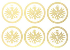 Eintracht Frankfurt 6er Aufkleber Set Logos transparent Fussball Gold #610