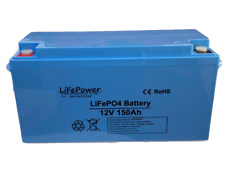 Lithium Leisure  Battery, LiFePO4, Bluetooth, Motorhome, Boat, Van 150AH