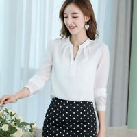 Top Blouse T-Shirt Chiffon Fashion Women Summer Loose Long Sleeve Ladies Shirt