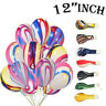 """12"""" Agate Marble Balloons Baby Showers Wedding Birthday Party Decorations Baloon"""