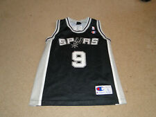 SAN ANTONIO SPURS # 9 TONY PARKER NBA THROWBACK JERSEY BY CHAMPION YOUTH SIZE LG