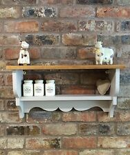 Shabby Chic/Country Kitchen/Cabinet/shelf Unit/wall Unit In Elephants Breath