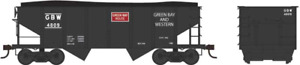 Bowser 37976 N Scale GLa Hopper Car GB&W Black w/ Red Logo RD #4837 HH