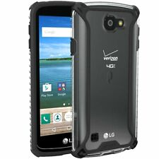 LG Optimus Zone 3 / K4 Case,Poetic [Affinity] TPU Bumper Protective Cover Black