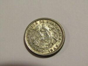 Guatemala 1943-P 5 Centavos Silver Coin