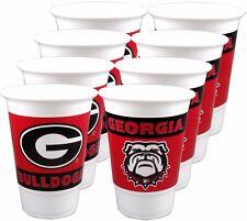 Georgia Bulldogs 16 oz. Beverage Cups - 8 per set