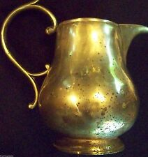 ANTIQUE VICTORIAN AGE PEWTER SILVER ALLOY - SYRUP PITCHER - SUPERB HANDCRAFTED