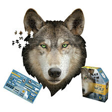 Madd Capp I Am Wolf Shaped Jigsaw Puzzle - 550 Piece Animal Shaped Jigsaw Puzzle