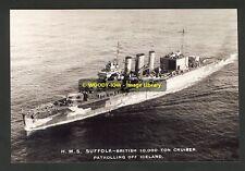rp00961 - Royal Navy Warship - HMS Suffolk - photo 6x4