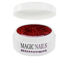 UV GEL 5 ml GLITTERGEL GLITTER ROT 12