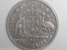 1941 Australian Silver TWO Shilling Florin (TWO BOB) KING GEORGE VI  (very Nice)