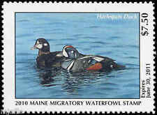 MAINE #27 2010 STATE DUCK STAMP HARLEQUIN  by Olga Wing