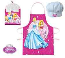 GIRLS KIDS DISNEY PRINCESS CHEF COOK GIFT SET INCLUDES APRON AND HAT