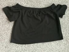 Boohoo Niamh off the shoulder crop top size 8 New with tag CURRENTLY SELLING