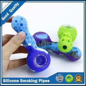 Silicone Honeycomb pipe unbreakable with Glass Bowl