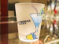 ST.THOMAS Blue Hawaiian Recipe Shot Glass