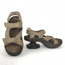 Z-Coil Sidewinder Sandals 9 Beige Pain Relief Orthotic Walking Shoes DAMAGE-READ