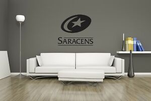 Huge Saracens Rugby Team Logo Vinyl Sticker Wall Art / Man Cave