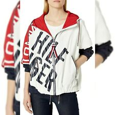 TOMMY HILFIGER AUTHENTIC GRAFFITI LOGO WINDBREAKER JACKET...