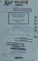 36 Page WWII Office Strategic Services 1944 SIMPLE SABOTAGE FIELD MANUAL on CD