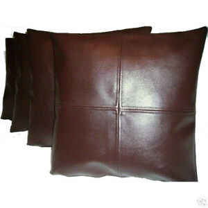 Authentic Lambskin Leather Handmade Cushion Pillow Cover Sofa Decorative Brown