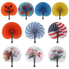 1PCS Hand Held Foldable Paper Fan For Children Themed Party Decoration Fan