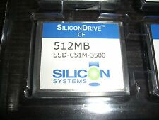 512 MB CF SiliconDrive SSD-C51M-3500 SILICON SYSTEMS