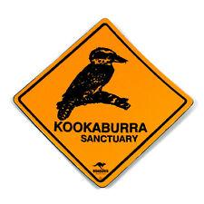 Australian Made Road Sign Souvenir Kookaburra Bird Vinyl Roadsign Fridge Magnet