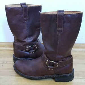 BORN MENS BROWN Bronson Brown Motorcycle Riding BOOTS MID CALF 9.5