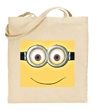 Shopper Tote Bag Cotton Canvas Cool Icon Stars Flowers Minion Ideal Gift Present