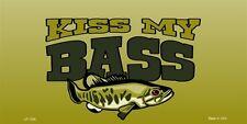 Kiss My Bass Fishing Novelty License Plate