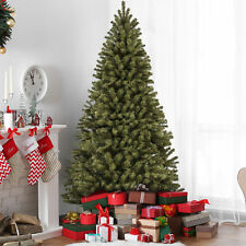 BCP 7.5ft Spruce Hinged Artificial Christmas Tree w/ Stand - Green