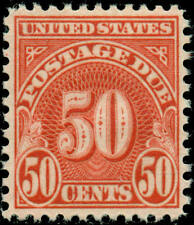 1931 50c Postage Due, Scarlet Scott J86 Mint F/VF NH