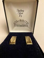 Sta-Brite Sterling Silver 2nd Lt Rank Pins In Gift Box