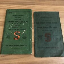 Singer Electric Sewing Machine Motor Attachment Instructions Manual 1930s 1920s
