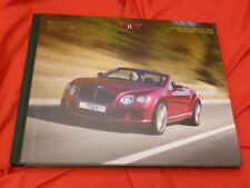 2013 BENTLEY Continental GT GTC Speed 625 PS Prospekt Customer HC Brochure Book