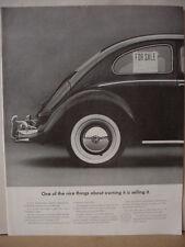 1964 VW Volkswagen Beetle Bug Car For Sale Sign in Window Vintage Print Ad 10370