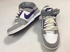 Nike 6.0 Youth Girls 5 5Y Morgan Dunks Skate Shoes Mid White Purple Gray