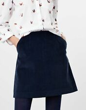 Joules Womens Hannah Cord Skirt - French Navy - 8