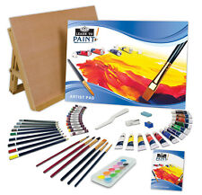 A3 Learn To Paint Art Work Station Easel & 56 Piece Artist Mixed Media Set LT101
