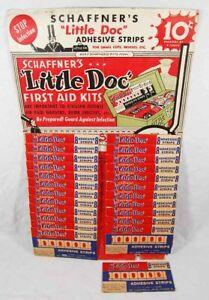 Vintage 1940's Schaffner's Little Doc First Aid Kit - Store Counter Display rare