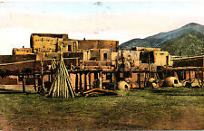 "NM New Mexico: ""Taos Pueblo South House"" Posted Albertype Divided-back Post Card"