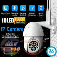 1080P HD IP CCTV Camera Waterproof Outdoor WiFi PTZ Security Wireless IR Cam NEW