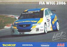 2006 P.Y. Corthals Monroe Honda Accord FIA WTCC postcard
