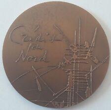 Jetons & Médailles, France, Medal, Crédit du Nord by Mathieu Bronze bronzen