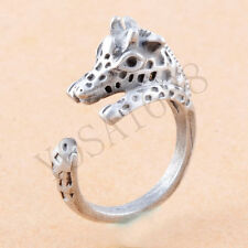 1pc Animal Copper Jewelry Antique gold silver Rings Giraffe Animal Wrap Ring men