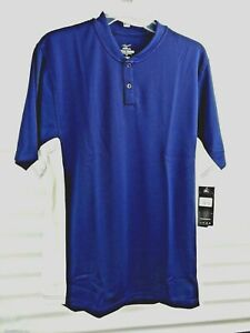 Mizuno Drylite Mens Navy Blue XS Short Sleeve New With Tags COLOR IS DARKER